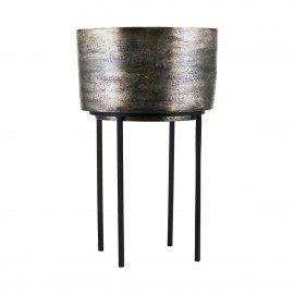 Stor sølv oxideret Kazi potte fra House Doctor fra House Doctor