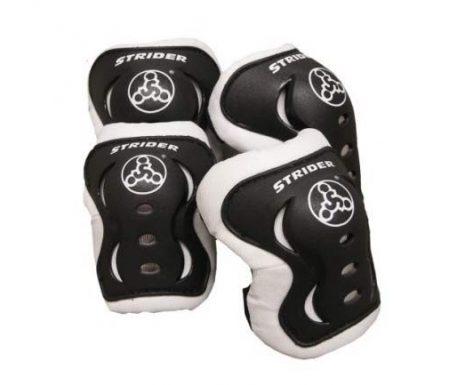 Strider beskyttelsessæt – Albue- & knæbeskytter – Sort/hvid