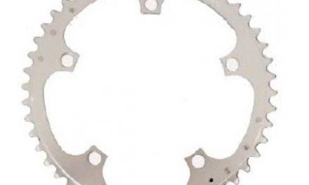 Stronglight klinge – 52 tands – ø135 – 5 huller – 9/10 speed – Zicral alu – Sølv