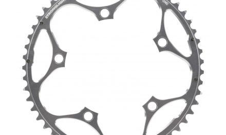 Stronglight klinge – 53 tands – ø130 – 5 huller – 9/10 speed – Zicral alu – Sølv