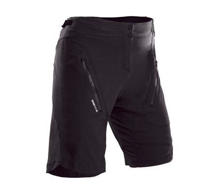 SUGOi Evo X loose fit cykelshorts med pude – Dame – Sort