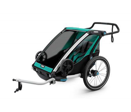 Thule Chariot Lite 2 – Multisportstrailer til 2 børn – Sort/Grøn