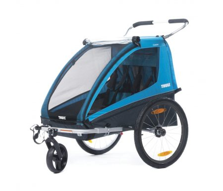 Thule Coaster XT – Cykeltrailer til 2 børn – Sort/Turkis