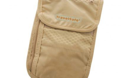 TravelSafe CheckOut – Pengekat med lynlås – Sandfarvet