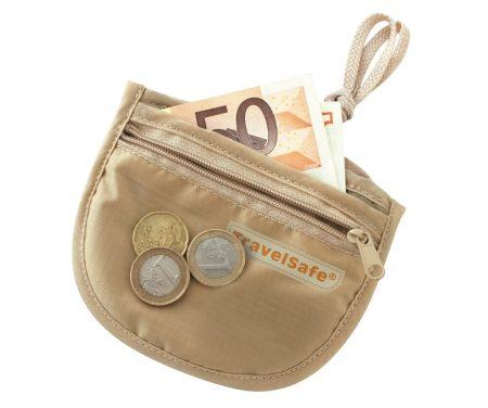 TravelSafe ID Pocket – Sikkerhedslomme – Sandfarvet