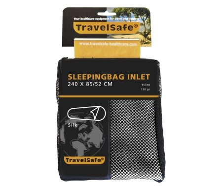 TravelSafe Sleepingbag Inlet Silk Mummy – Silke lagenpose – Hvid
