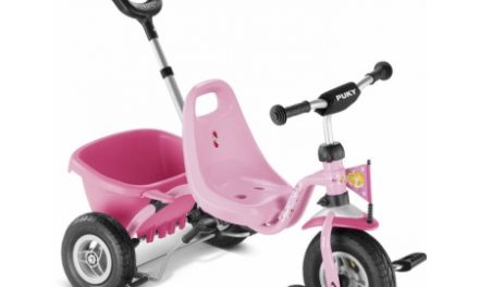 Trehjulet cykel Puky med lad og skubbestang – Farve: Lillifee