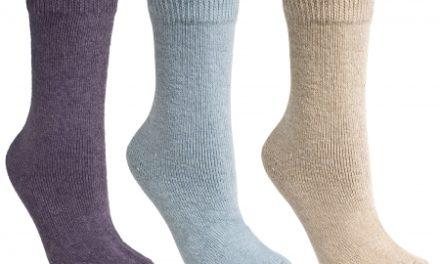 Trespass Alert – Vinterstrømper til dame – 3 pak – lilla/blå/beige –