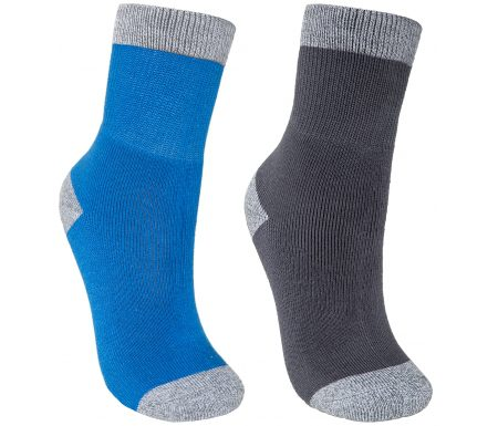 Trespass Dipping – Junior vandrestrømper – 2-pak – Blå/sort