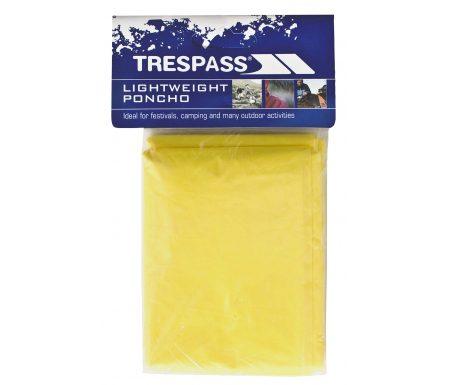 Trespass Drylite – Poncho – PE plastik – Gul