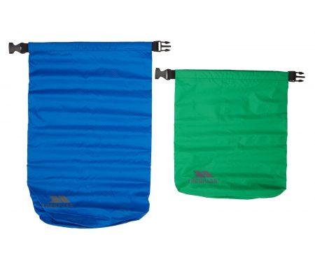 Trespass Exhilaration – Drybag sæt – 5 liter grøn – 10 liter blå