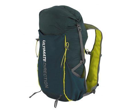 Ultimate Direction Fastpack 20 – Rygsæk – 15-23 liter – Mørkegrøn/gul