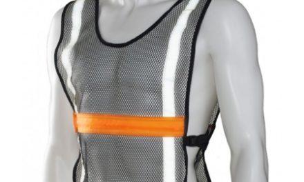 Ultimate Performance – High Visibility LED Vest – Løbe/cykelvest – Onesize – Sort/orange