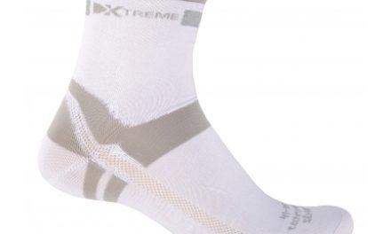 Xtreme – Cykelstrømpe med refleks – X-Silvertech – Hvid/grå