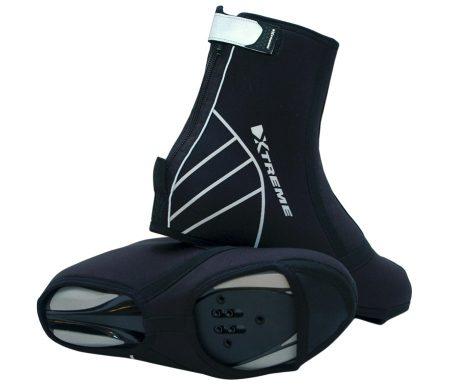 Xtreme Skoovertræk X-Neo med 2 delt sål og refleks Neopren Sort