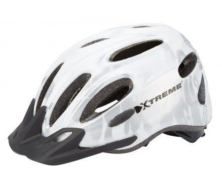 Xtreme – X-City – Cykelhjelm – Str. 55-60 cm – Hvid/Sølv