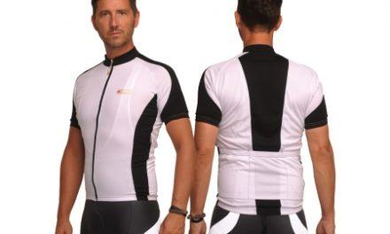 XTreme X-Fabian – Cykeltrøje med korte ærmer – Hvid/sort
