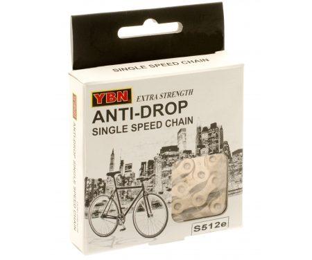 """YBN kæde Anti Rust S512eRB til E-bike – 1/2 x 1/8"""" single speed"""